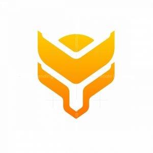 Cyber Fox Mark Logo