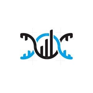 Dna Chart Bar Logo