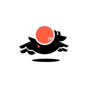 Dog Running Logo