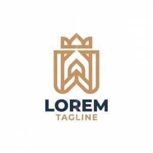 Elegant W Crown Logo