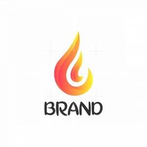 Letter F Fire Logo