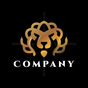 Golden Lion Ornament Logo