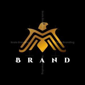 Golden Majestic Eagle Logo