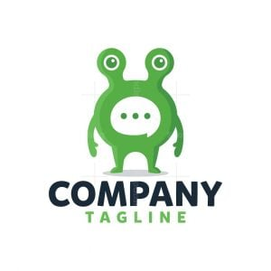 Green Frog Chat Logo