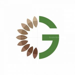 G Letter Leaves Logo