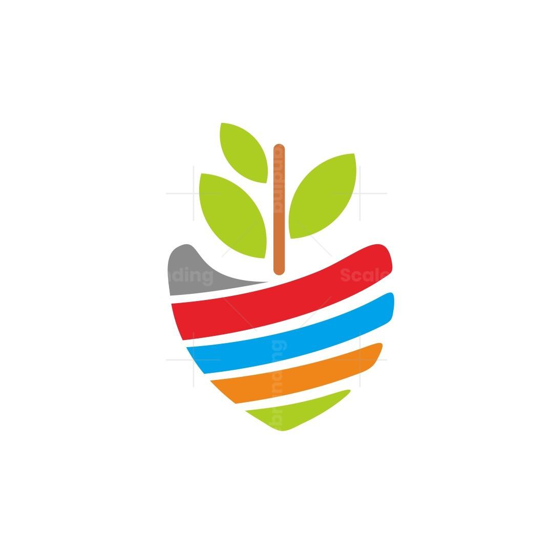 Hand Love Flower Logo