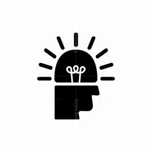 Head Light Idea Logo