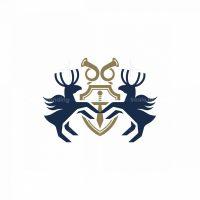 Heraldry Deer Shield Logo