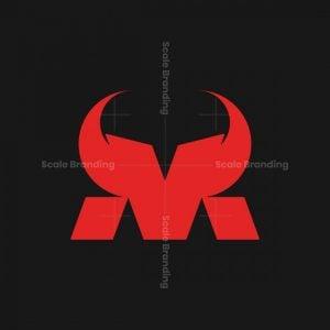 Horned Letter M Logo