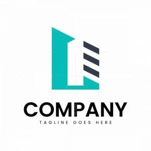 L Monogram Building Logo