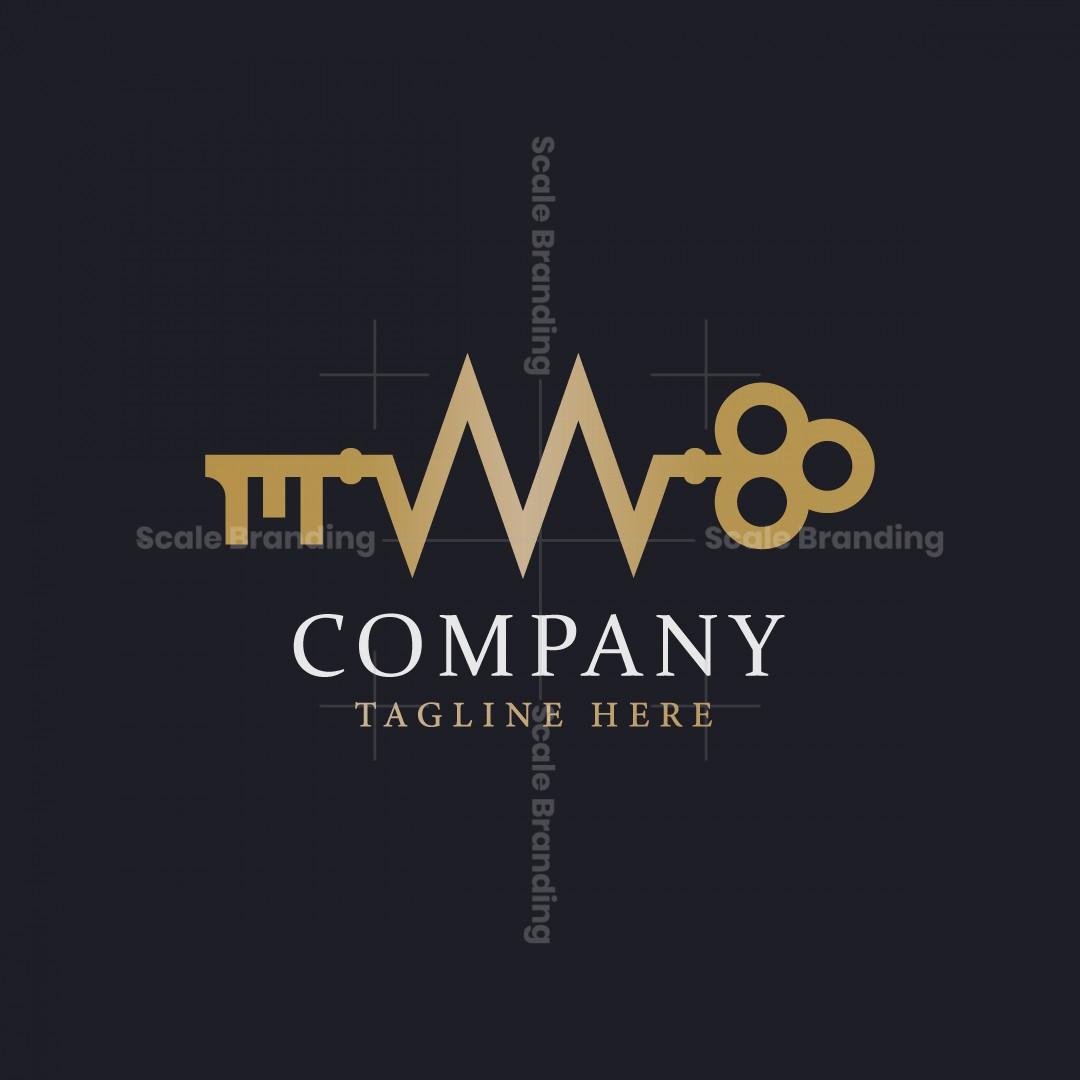 Letter M Key Logo