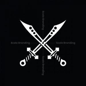 Letter A Or X Sword Logo