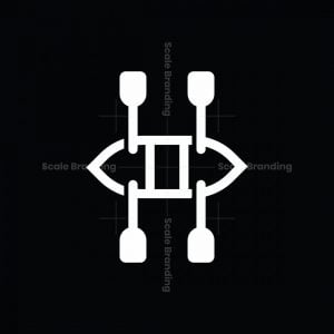 Letter H Boat Logo