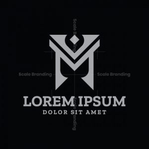M Or Mv Or Vm Logo