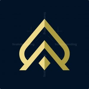 Letter A Abstract Ace Logo