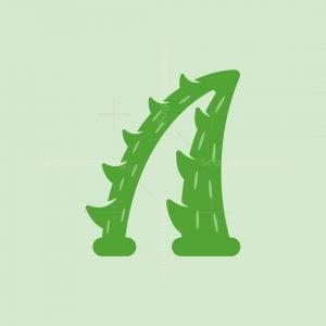 Letter A Aloe Vera Logo