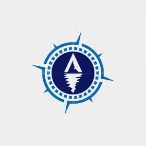 Letter A Iceberg Compass Logo