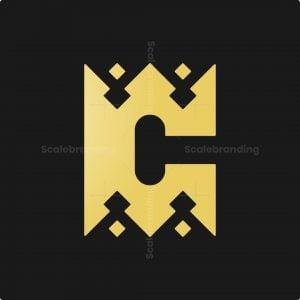Letter C Crown Logo