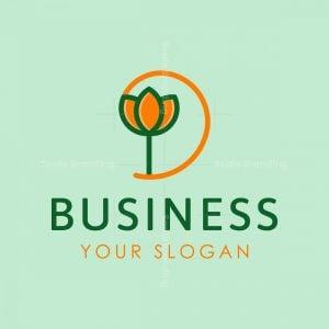 Letter D Flower Logo