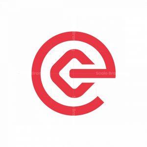 Letter E Connect Logo