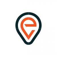 Letter Ev Map Pin Logo
