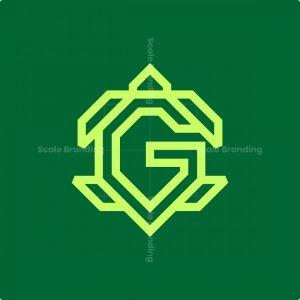 Letter G Turtle Logo