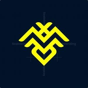 Letter M Bee Logo