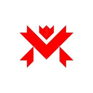 Letter M Maple Logo