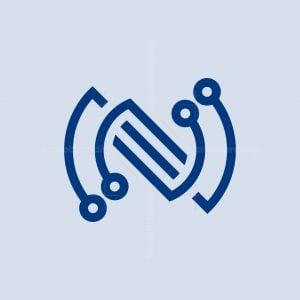 Letter N Or Sz Tech Logo