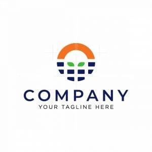 Letter O Solar Panel Logo
