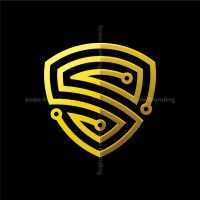 Letter S Shield Security Tech Logo
