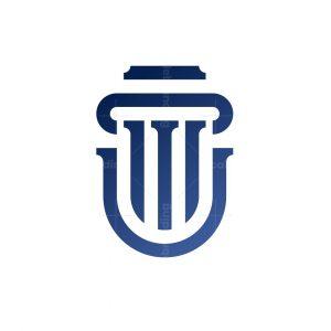 Letter U Law Monogram Logo