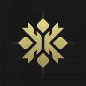 Letter X Ornament Logo