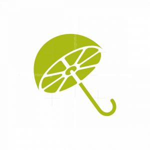 Lime Umbrella Drink Logo