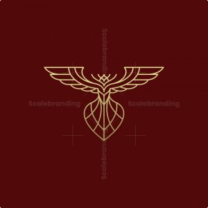 Luxury Monoline Phoenix Logo