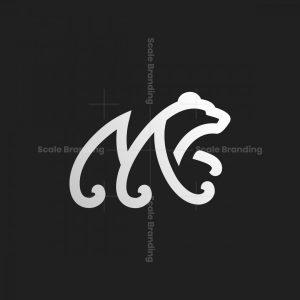 Letter M Shaped Bear Logo