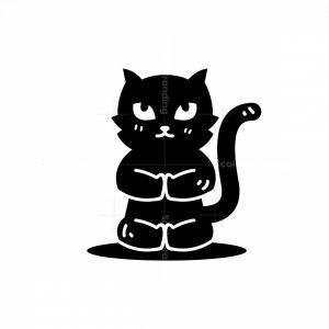 Meditation Cat Logo