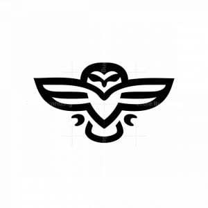 Minimal Flying Owl Logo