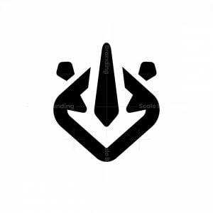 Minimal Geometric Rhino Logo