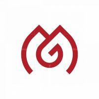 Minimal Letter Mg Logo