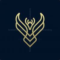 Minimalist Phoenix Logo