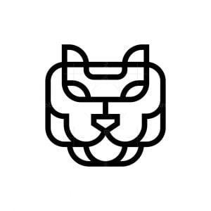 Minimalist Tiger Face Logo