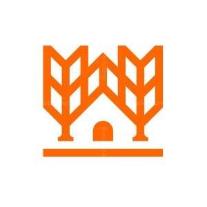 Minimalist Wheat House Logo