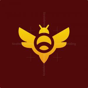 Modern Bee Mark Logo