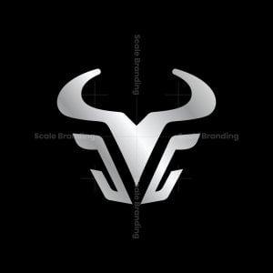 Modern Bull Head Logo