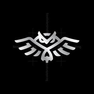 Modern Skull Owl Logo