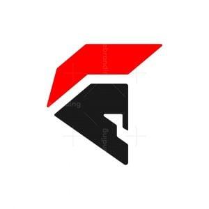 Modern Spartan Head Logo