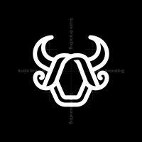 O Letter Bull Head Logo