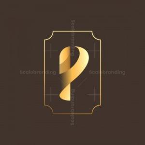 Golden Letter P Logo