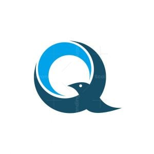 Q Letter Bird Logo